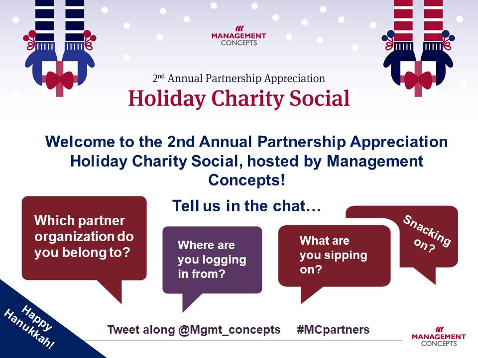 2nd Annual Partnership Appreciation Holiday Charity Social